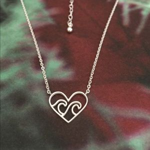 Jewelry - Wave Heart Necklace